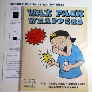 wax pack wrappers square 100 pack nonsport trading card artist cards
