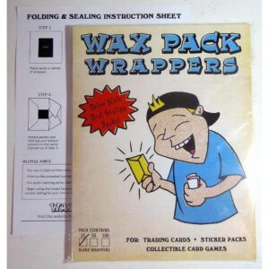 wax pack wrappers square 25 pack nonsport trading card artist cards