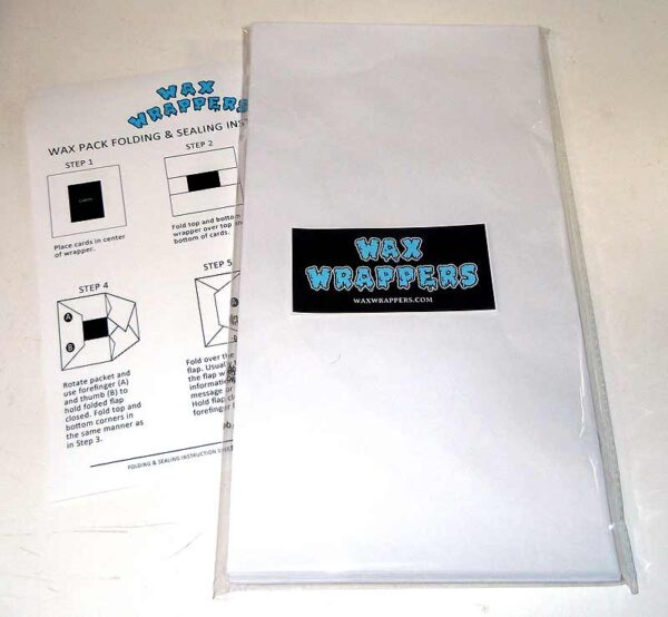 Blank Wax Pack Wrappers Legal Size by waxwrappers.com