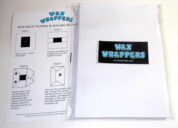 Blank Wax Pack Wrappers Letter Size by waxwrappers.com