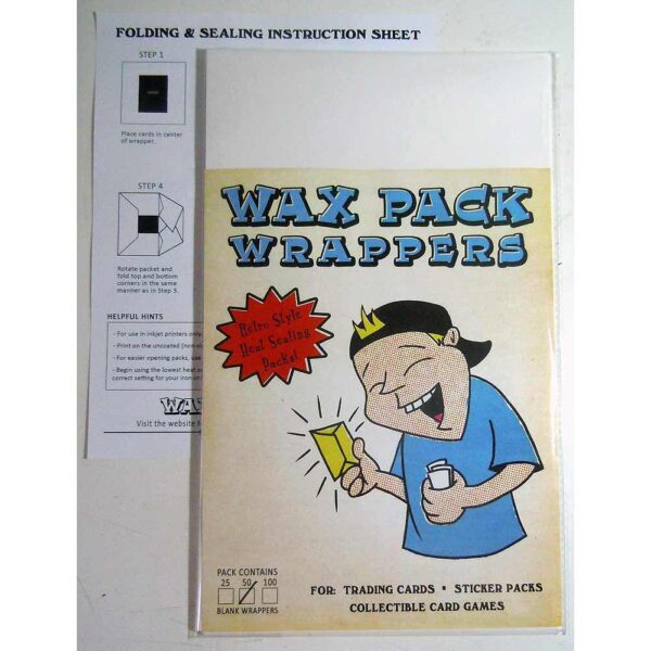 wax pack wrappers legal size 50 pack nonsport trading cards gpk stickers