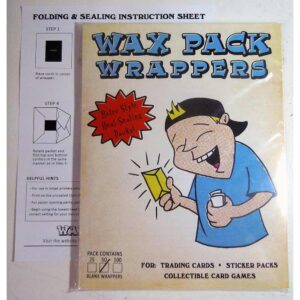 wax pack wrappers letter size 100 pack artist trading cards nonsport